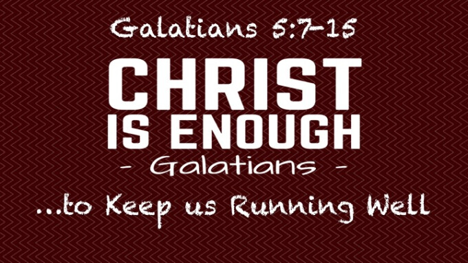 """Christ Is Enough...to Keep us Running Well"""
